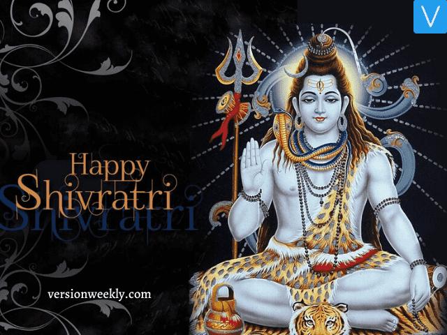 happy shivratri poster