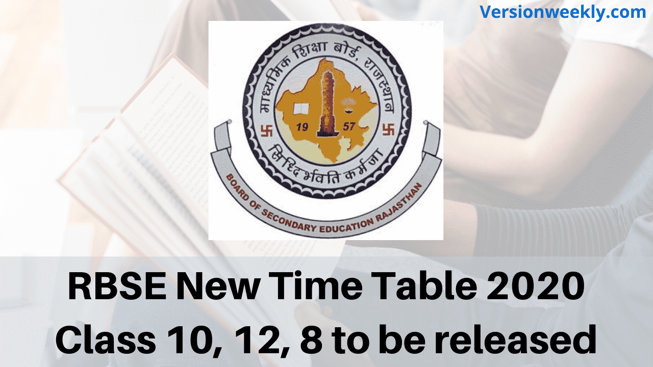 RBSE New Time Table 2020 Class 10, 12, 8 to be released
