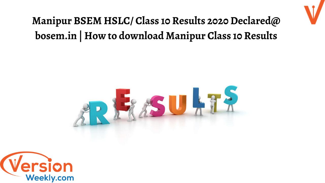 Manipur BSEM HSLC Results