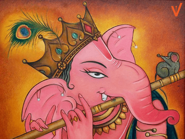 ganesh chaturthi painting with colors for competition