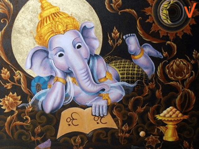 ganesh chaturthi paintings with colors