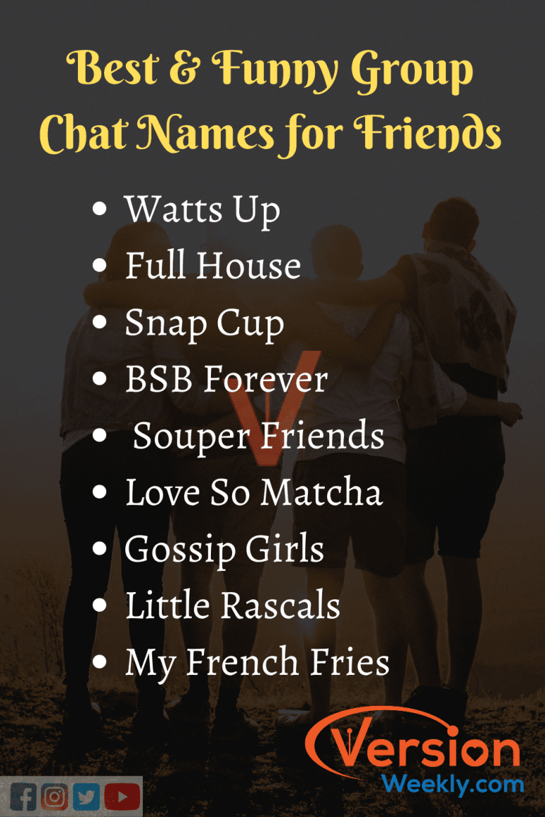 funniest friends group names