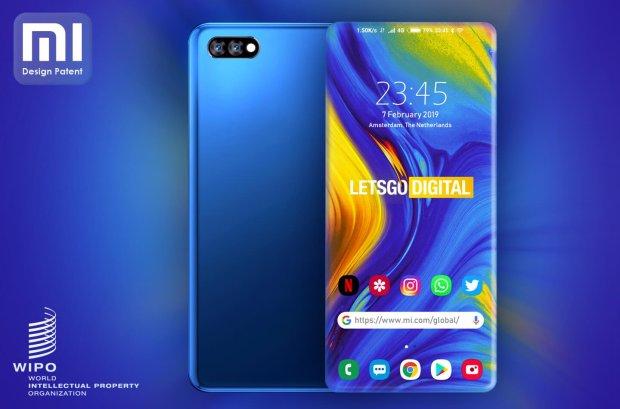 Xiaomi запатентовала полностью безрамочный смартфон