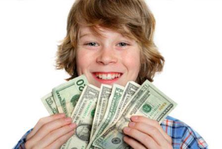 vaikai ir pinigai