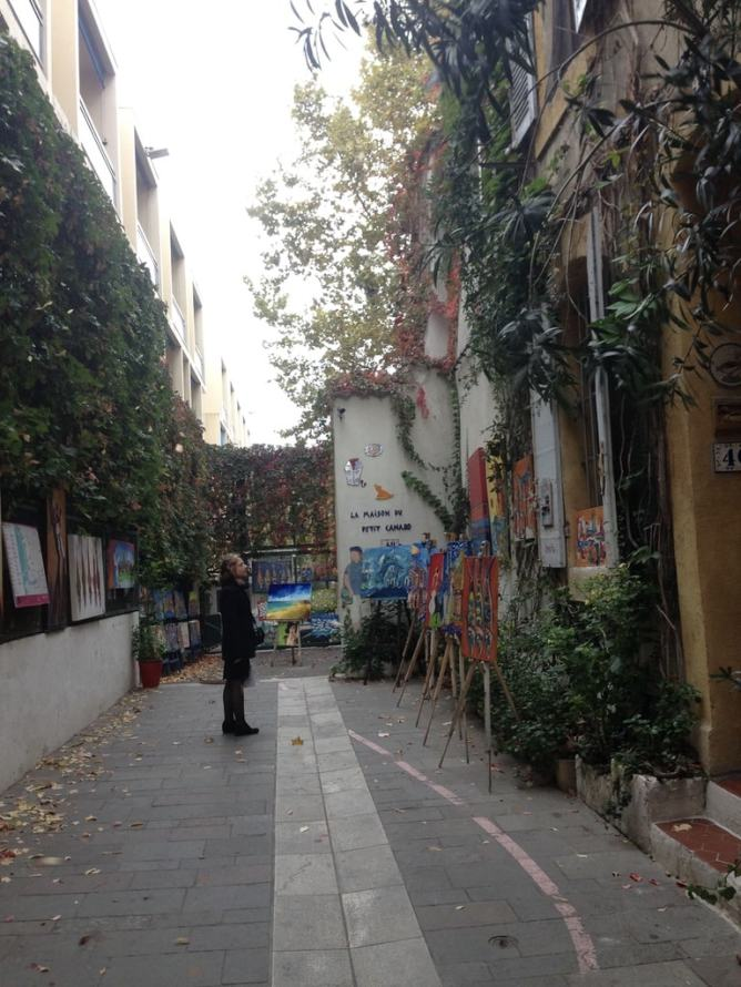 In an artistically inspirational part of town- Le Panier.