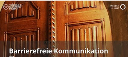 Titelbild der youTube-Videoreihe zum Seminar Barrierefreie Kommunikation