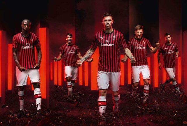 PUMA and AC Milan Bring Back Narrow Stripes for the Club's 2019/20 Home Shirt