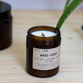 Bougie parfumée N°09 Aloe 150g/40h Wabi-Sabi