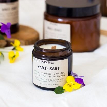 Bougie parfumée N°10 Provensa 90g/25h Wabi-Sabi