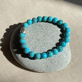 Bracelet en turquoise et argenté