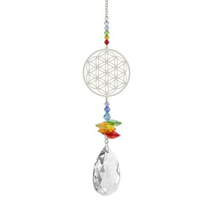 Fantaisie de cristal fleur de vie Woodstock Chimes