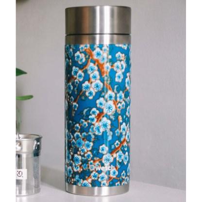 Théière Flowers bleu Qwetch décor
