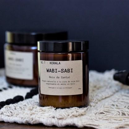 Bougie parfumée N°07 Kérala 150g/40h Wabi-Sabi
