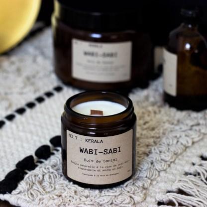 Bougie parfumée N°07 Kérala 90g/25h Wabi-Sabi