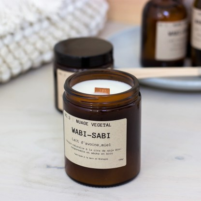 Bougie parfumée N°03 Nuage Végétal 150g/40h Wabi-Sabi