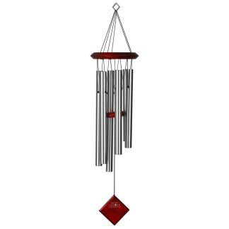 Carillon à vent Pluton argenté bubinga Woodstock Chimes
