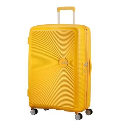 Valise Soundbox 77cm American Tourister jaune or