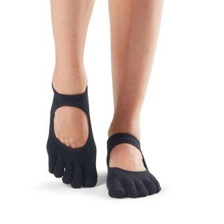 Chaussettes antidérapantes Bellarina Full Toe noir Toesox