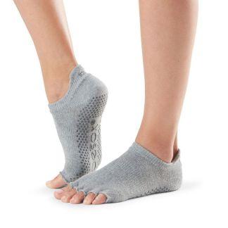 Chaussettes antidérapantes Lowrise Half Toe heather grey Toesox