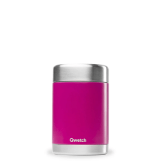 Boîte repas et soupe isotherme Magenta 650ml Qwetch