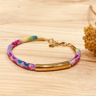 Bracelet japonais en tissu de Kimono N°06 Atelier Vivienne
