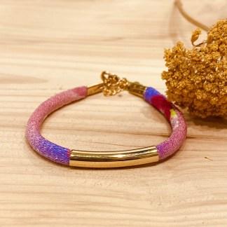 Bracelet japonais en tissu de Kimono N°20 Atelier Vivienne