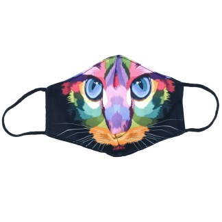 Masque en tissu Chat pop art