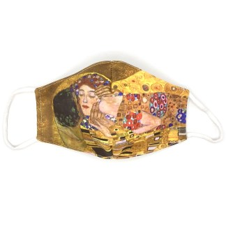 Masque en tissu Le baiser de Klimt