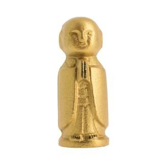 Statuette Jizo le protecteur en fonte doré