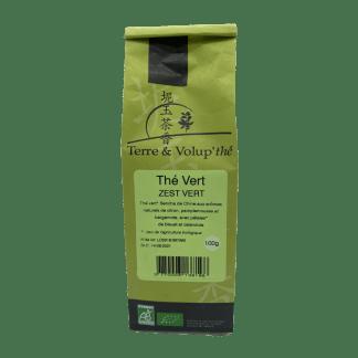 Thé vert Zest vert bio Terre & Volup'thé