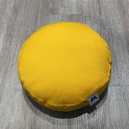 Petit coussin de méditation plat jaune Stelvoren