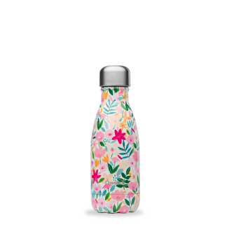 Bouteille isotherme Flora rose 260ml Qwetch