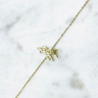 Bracelet Licorne Origami doré 7bis