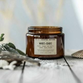 Bougie parfumée Wabi-Sabi N°12 Escapade bretonne 150g/40h