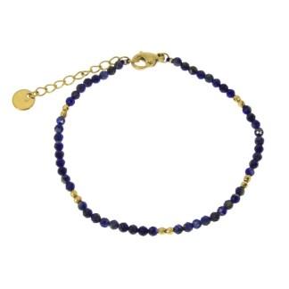Bracelet Les Cleias acier inoxydable Horatio lapis lazuli