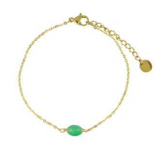 Bracelet Les Cleias acier inoxydable Serene vert