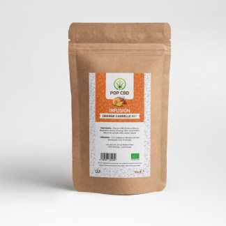 Infusion au chanvre POP CBD Fruitée Orange Cannelle bio