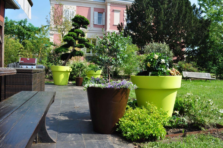 Terrasse Jardin Moderne | Aménagement Terrasse Et Jardin Photo ...