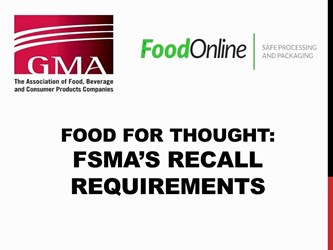 Food For Thought What Are Fsmas Recall Requirements (part Three Of Three