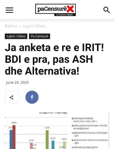 """Manipulim me titullin, anketën nuk e ka bërë """"IRI"""", por """"M"""
