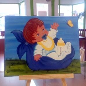 Toile bébé garçon 8x10 - Créations Jocelyne Forbes - 34.95$ Taxes incluses