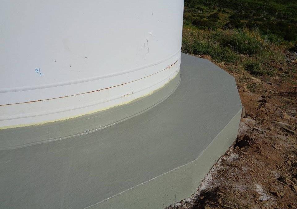Parque Eólico em Teixeiró | Impermeabilização de parte superficial de fundações de Torre Eólica