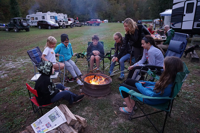 Team Vertical Red River Gorge Camp Fire