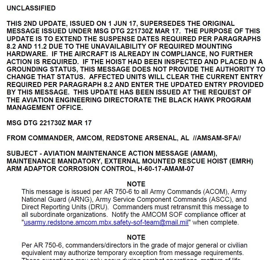 H-60-17-AMAM-07 Update