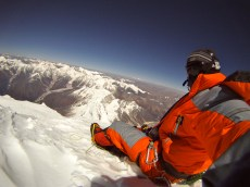 Bens awesome view from the summit of Manaslu