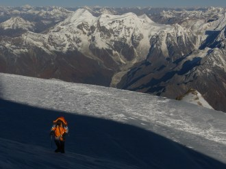 Ben West on the Summit Ridge of Manaslu
