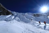 Entering the headwall