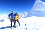 Sherap Sherpa - Mal Haskins with Everest in the back Ground
