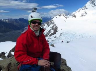 Trent Thorne - training on Glacier Dome