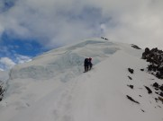 Short Roping on steep terrain - East ridge of Dixon